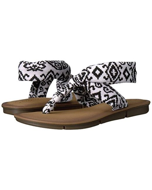 afe9b0c3e21a10 ... Skechers - Black Indulge 2-urban Safari Flip Flop - Lyst ...
