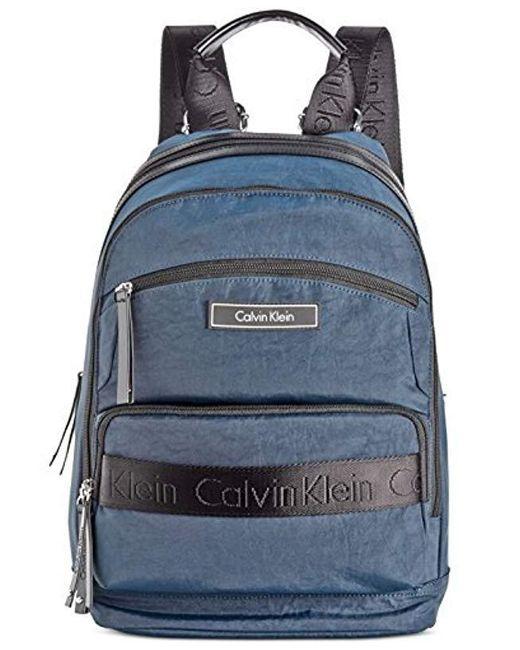 Calvin Klein - Blue Athliesure Nylon Backpack - Lyst