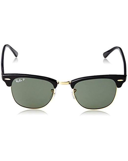 960bc8fb31 ... Ray-Ban - Clubmaster Polarized Aviator Sunglasses Black 49 Mm for Men -  Lyst ...