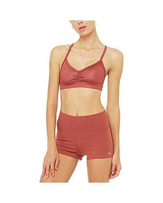 Alo Yoga - Multicolor Sunny Strappy Bra (concrete Glossy) Women's Bra - Lyst