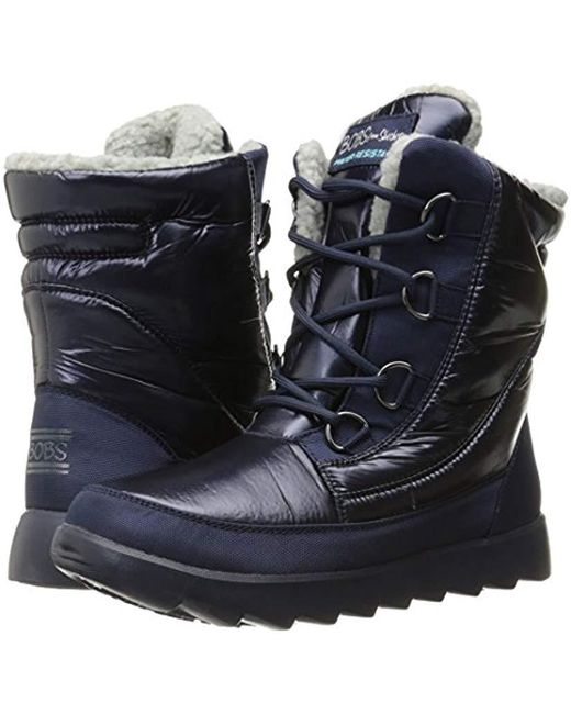 2bc688a5b05 ... Skechers - Blue Bobs From Mementos Snow Cap Cozy Winter Boot - Lyst ...