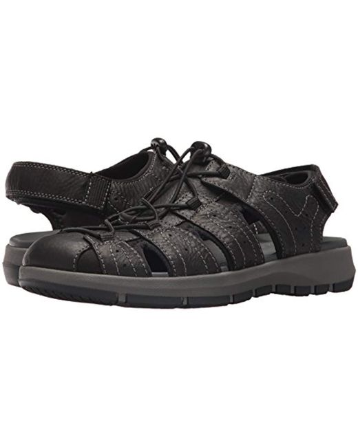 017646af318e Lyst - Clarks Brixby Cove Fisherman Sandal in Black for Men - Save 63%