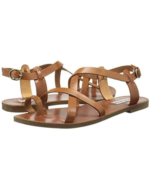 ce2020a846d Lyst - Steve Madden Agathist Sandal in Brown - Save 27%
