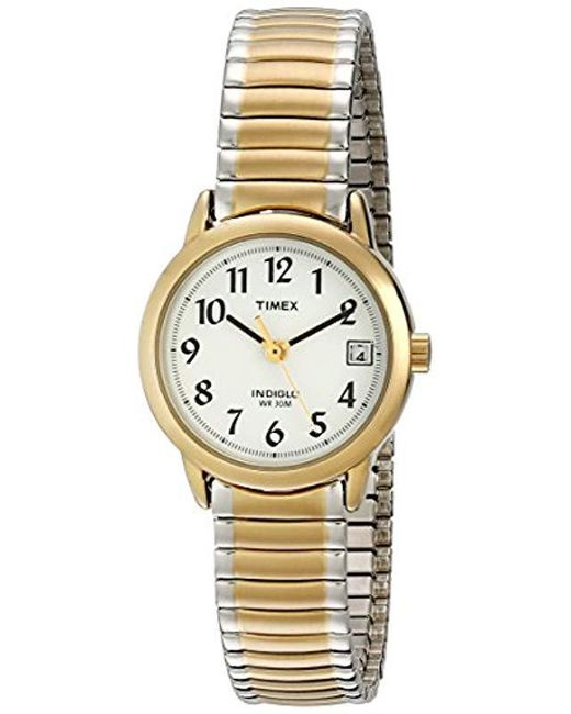 ae6f25827 Timex - Metallic T2h491 Easy Reader Two-tone Stainless Steel Expansion Band  Watch - Lyst ...