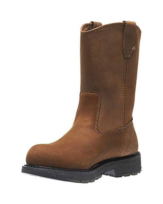 ca46ac647a3 Lyst - Wolverine Dd Work Steel Toe Wellington in Brown for Men - Save 5%