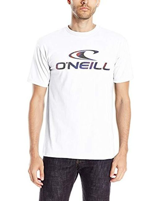 O'neill Sportswear - White Throttle T-shirt for Men - Lyst