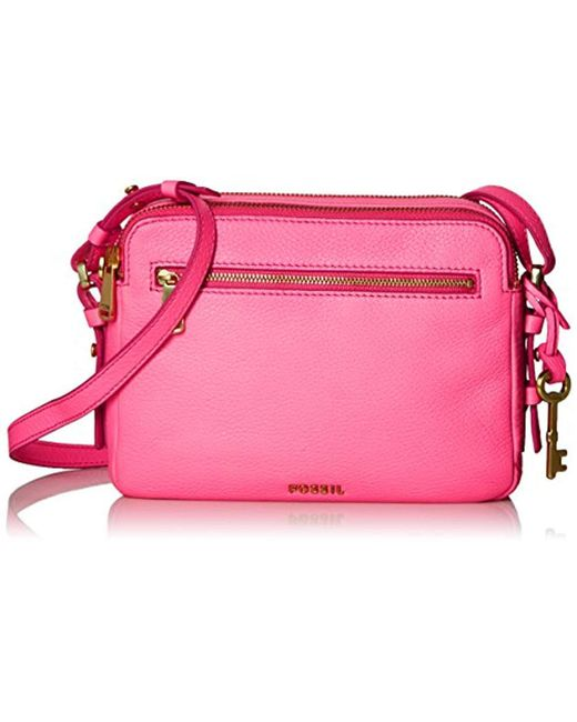 Fossil - Pink Piper Toaster Crossbody - Lyst
