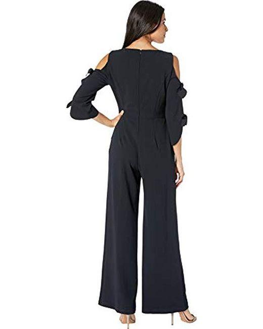 3f8b6d63617 Lyst - Donna Morgan Tie Sleeve Jumpsuit in Blue