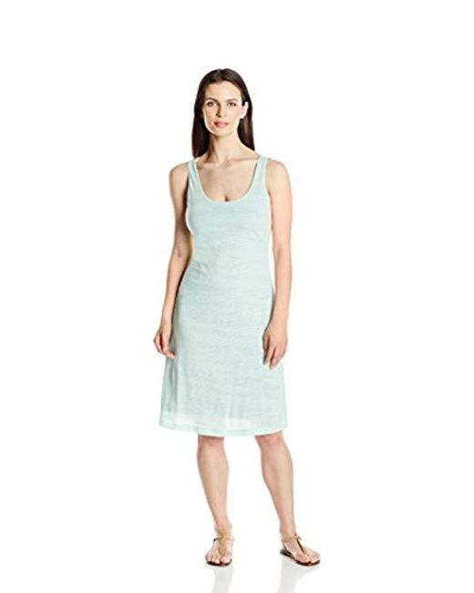 Columbia - Blue See Through You Burnout Dress - Lyst