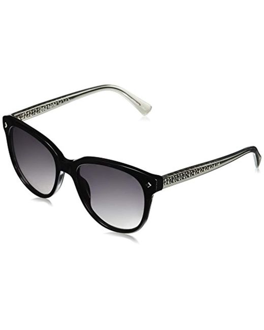 Cole Haan - Black Ch7043 Plastic Oval Sunglasses, 55 Mm - Lyst