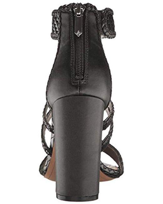 5c87aa67c16bd Lyst - Sam Edelman Yordana Heeled Sandal in Black - Save 76%