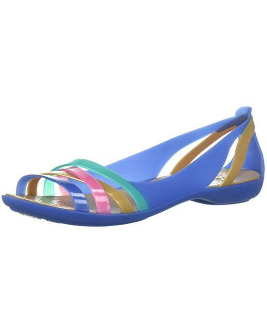 Crocs™ Blue Isabella Huarache 2 Flat W Peep-toe