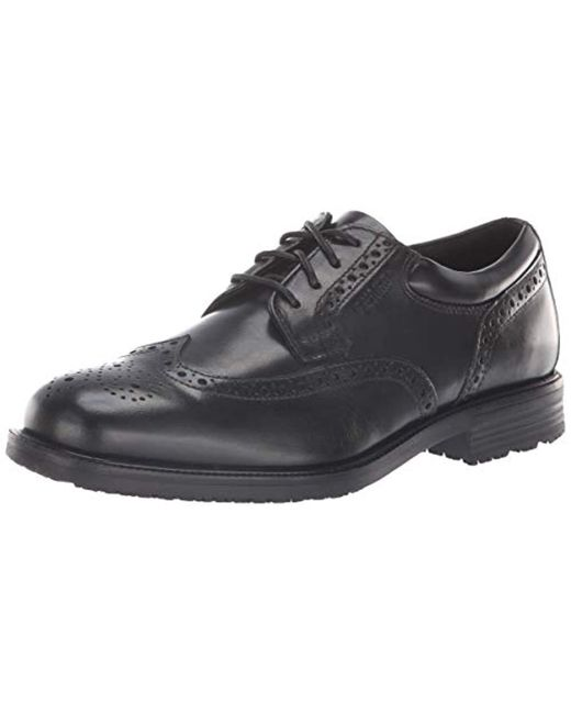 Rockport - Black Essential Details Waterproof Wingtip Oxford Shoe for Men - Lyst