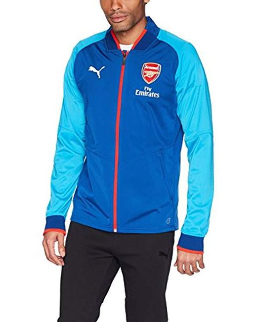 PUMA - Blue Arsenal Fc Stadium Jacket for Men - Lyst