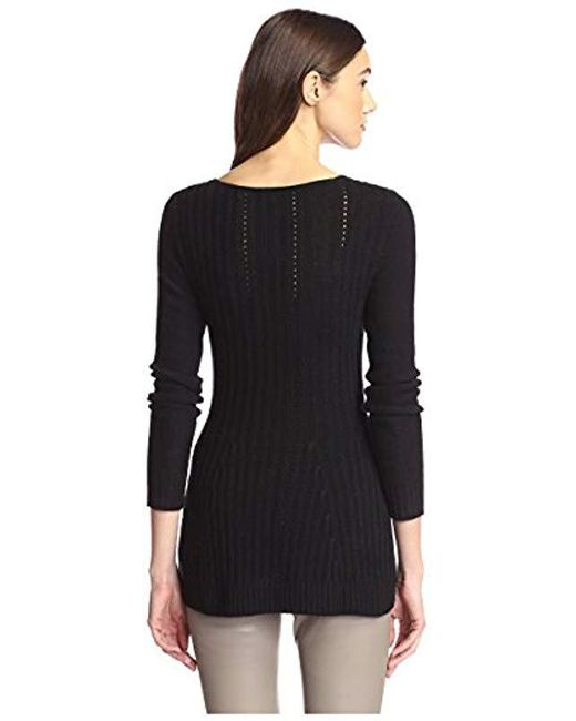 5336a895bdd Lyst - James   Erin Flared Cashmere Sweater in Black - Save ...