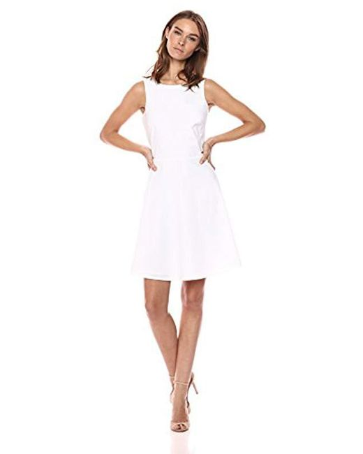Armani Exchange - White | Clssic -line Solid Dress - Lyst