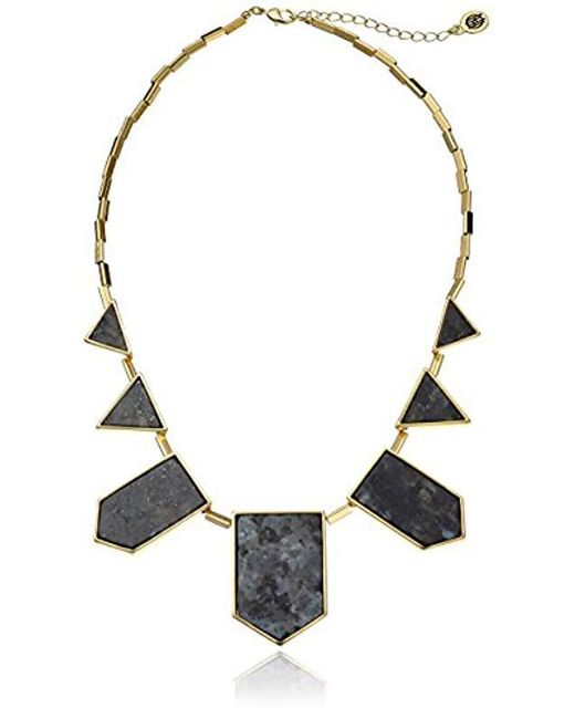 House of Harlow 1960 - Metallic S Classic Station Necklace - Lyst