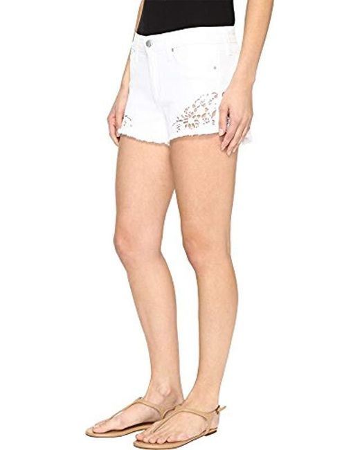 c102eed3832e0 ... Joe s Jeans - Multicolor Cut Off White Jean Short With Embroidery In  Lemley ...
