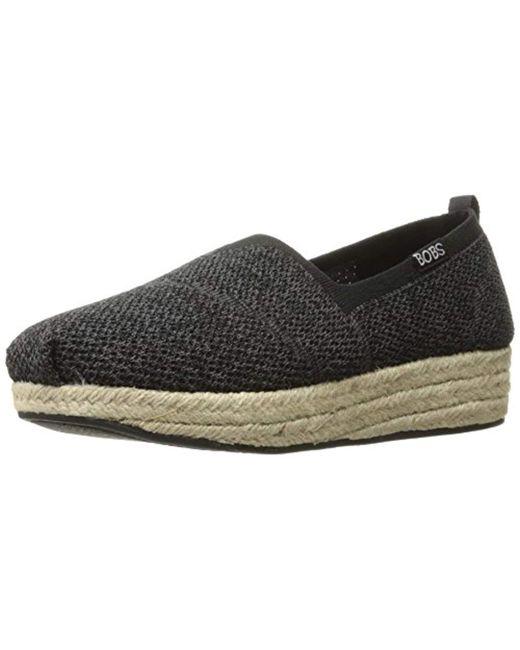 Skechers - Black Bobs Highlights-get Knitty Flat - Lyst