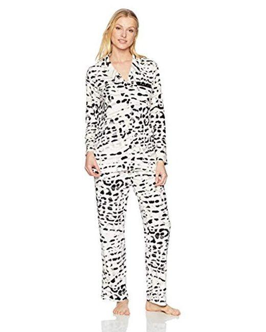 Ellen Tracy - White Velour Pajama Set - Lyst