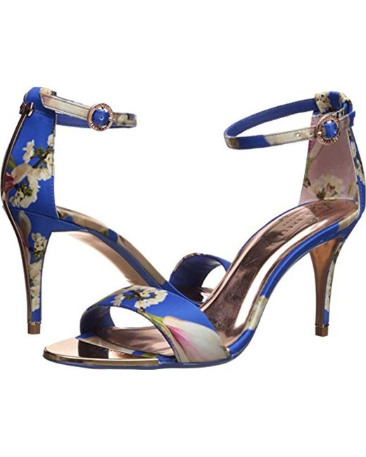 Ted Baker - Blue Mavbe Heeled Sandal - Lyst