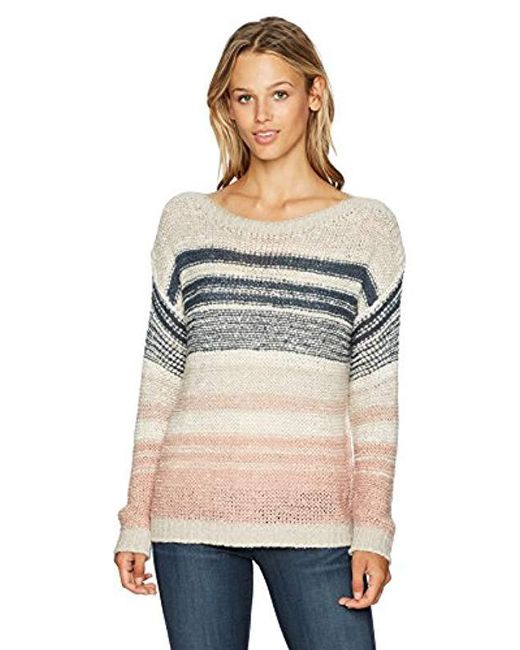 Cupcakes And Cashmere - Multicolor Reena Striped Boatneck Pullover Sweater - Lyst