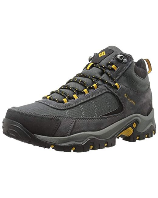 Columbia - Gray Granite Ridge Mid Waterproof Wide Hiking Shoe for Men - Lyst