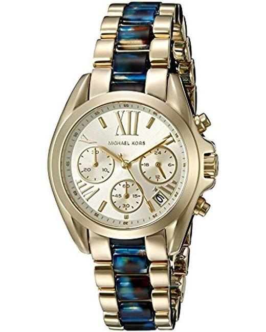 dd80a0404272 Michael Kors - Metallic Mini Bradshaw Gold-tone Watch Mk6318 - Lyst ...