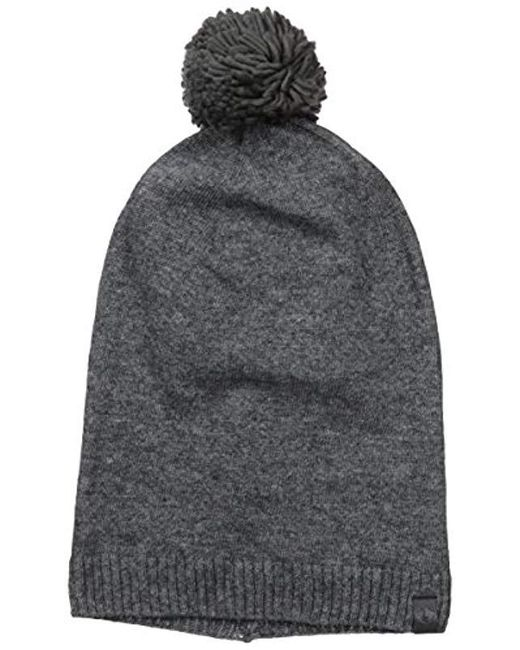 04a18fce592 Lyst - True Religion Slouch Beanie W pom in Gray for Men - Save 24%