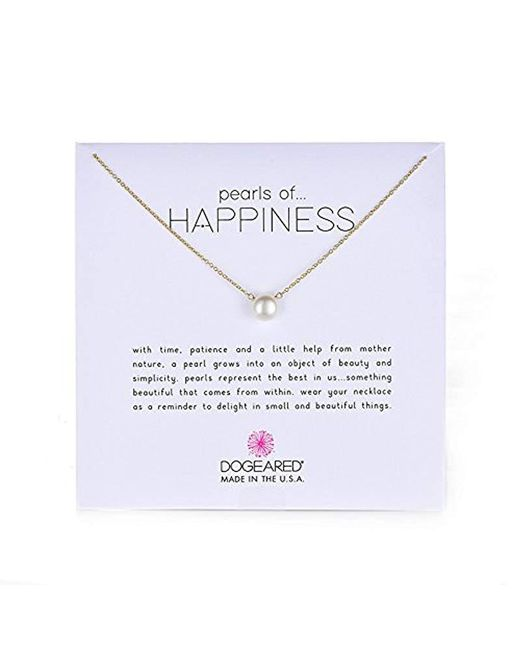 Dogeared - Metallic Jewels & Gifts Pearls Of Happiness Freshwater Pearl (8mm) Necklace ...