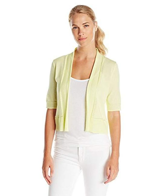 Jones New York - Multicolor Elbow Sleeve Shrug Sweater In Celadon - Lyst