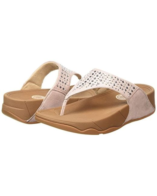 fae79a1244e Lyst - Fitflop Novy Toe Post Flip Flop in Natural - Save 35%