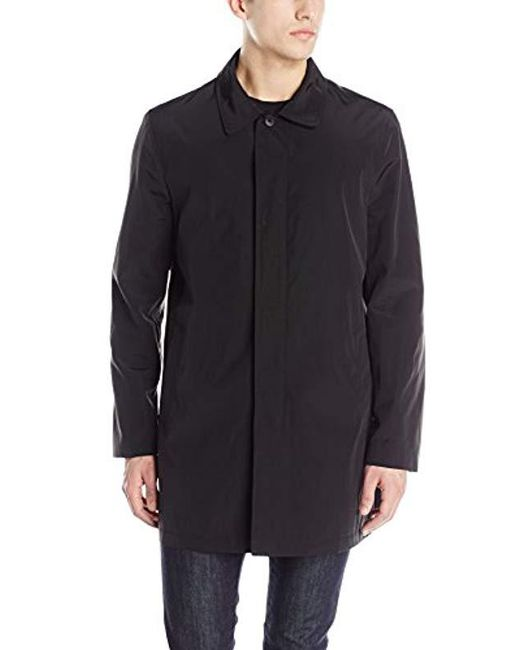 Kenneth Cole - Black Patrick Fly Front Raincoat for Men - Lyst
