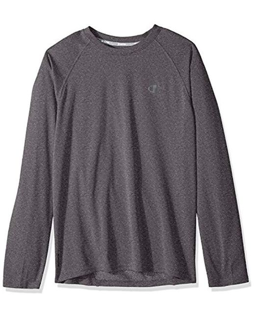 Champion - Gray Double Dry Select Long Sleeve T-shirt for Men - Lyst