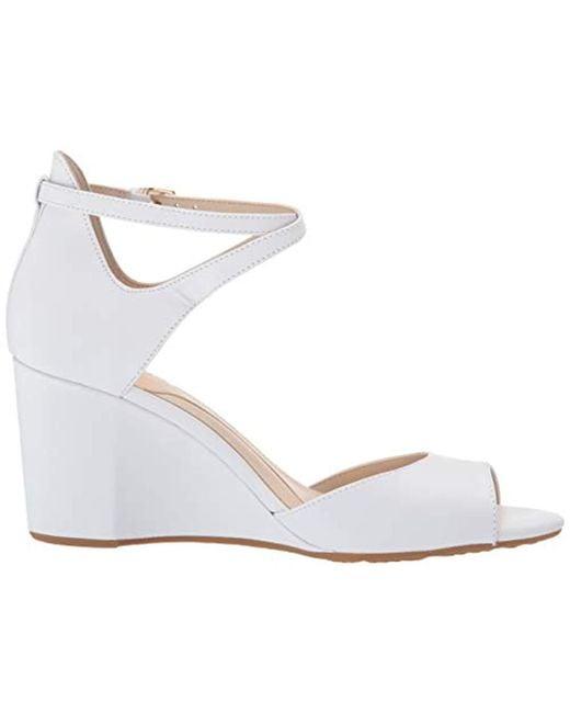 7c0891f4c60 ... Cole Haan - White Sadie Grand Open Toe Wedge Sandal (75mm Pump - Lyst  ...