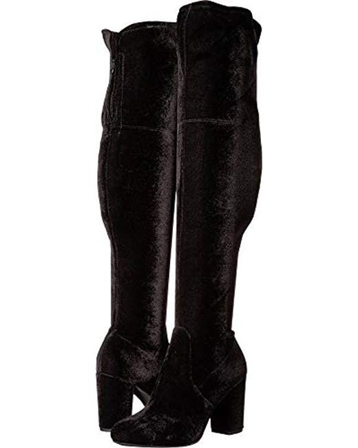 fef6fcec030 Lyst - Kenneth Cole Abigail Over The Knee Heeled Boot in Black ...