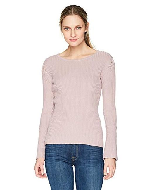 Ivanka Trump - Multicolor Knit Crew Neck Bell Long Sleeve Sweater - Lyst