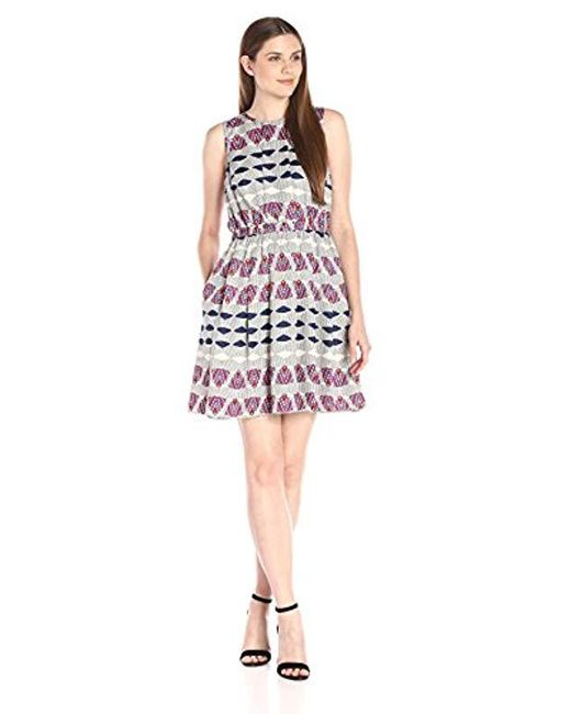 Donna Morgan - Multicolor Elastic-waist Wide-pleat Dress - Lyst