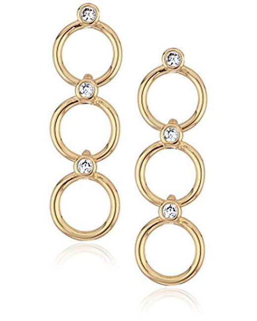Kate Spade - Metallic S Delicate Linear Drop Earrings, Clear/gold - Lyst