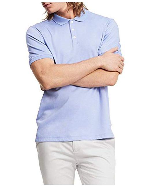 Calvin Klein - Blue Liquid Cotton Polo Shirt for Men - Lyst