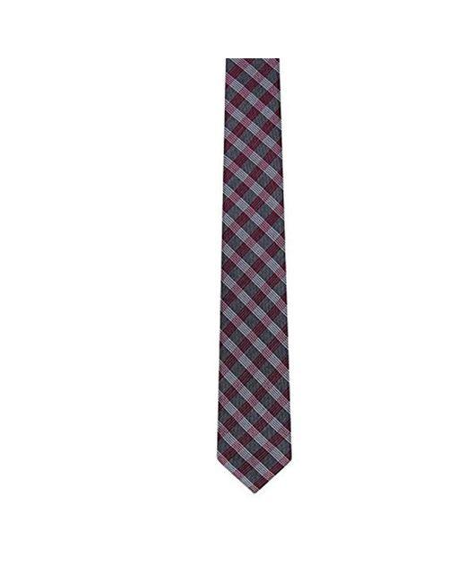 Calvin Klein - Purple Red Hot Plaid Tie for Men - Lyst
