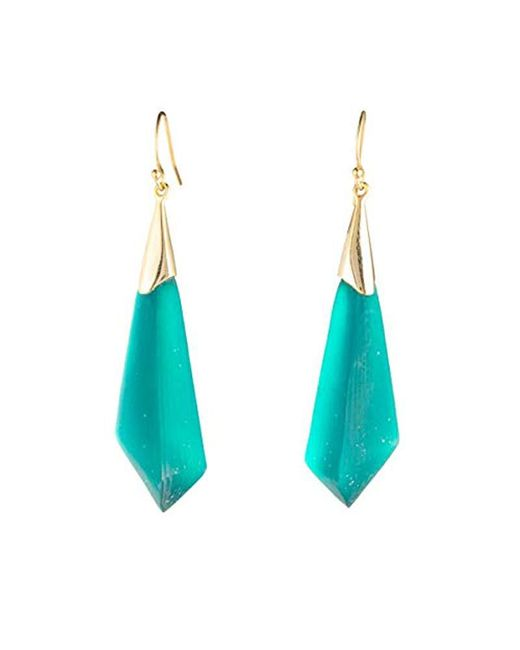 Alexis Bittar - Blue Faceted Wire Drop Earrings - Lyst