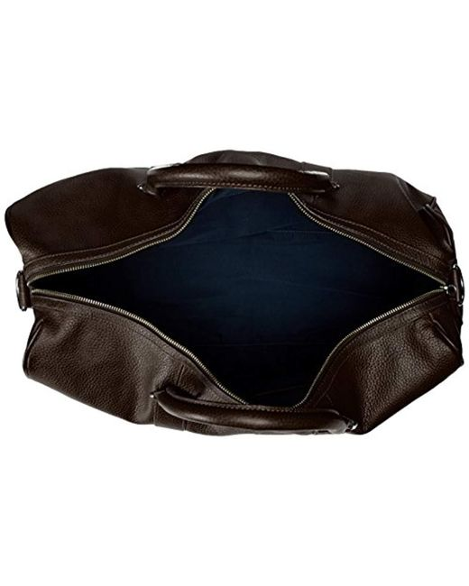... Cole Haan - Brown Pebble-leather Duffle Bag for Men - Lyst ... a5ff5a386ea5c