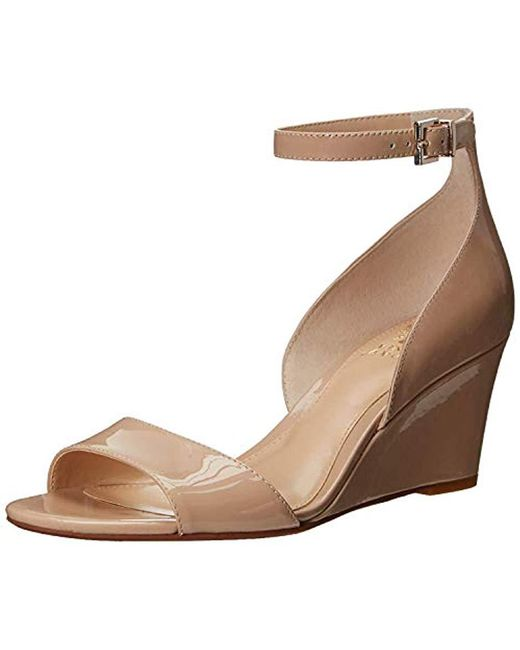 79b8fd96b1b Lyst - Vince Camuto Cherin Wedge Sandal in Brown - Save ...