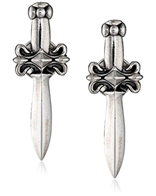King Baby Studio - Metallic Dagger Post Earrings - Lyst