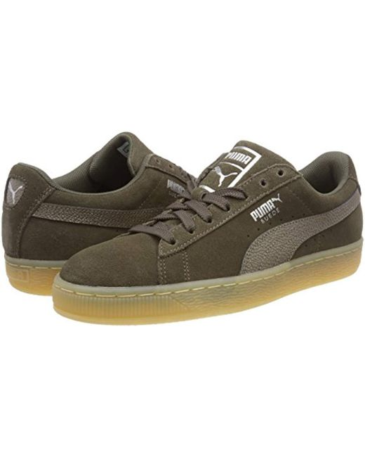 Green Save trainers Bubble Classic Shoes Suede W's In Puma X08FqPx