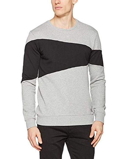 Benetton - Gray Sweater L/s Sports Jumper for Men - Lyst