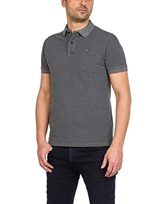 1e7b3aeb Replay - Gray Polo Shirt for Men - Lyst ...