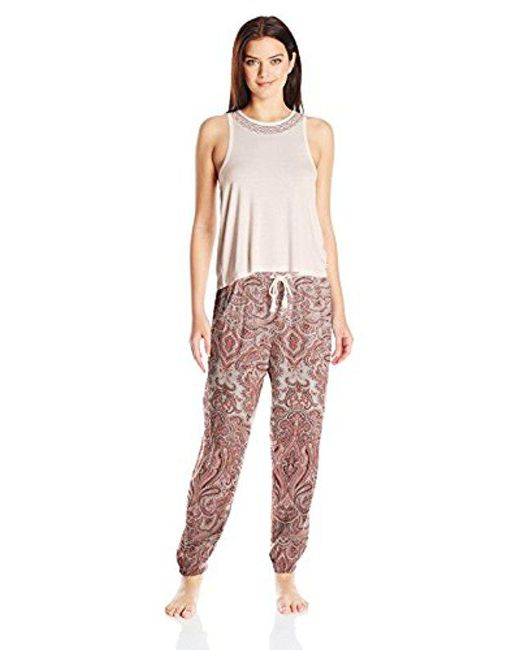 Lucky Brand - Multicolor Embroidered Tank Pajama Set - Lyst