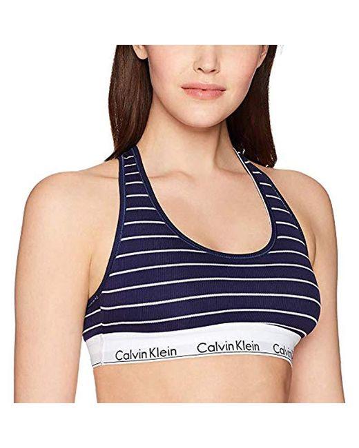 a715677c58e24 Calvin Klein - Blue Modern Cotton Bralette - Lyst ...